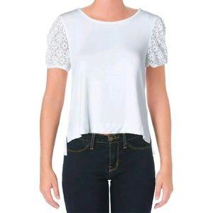 Kensie Lace Sleeve Shirt