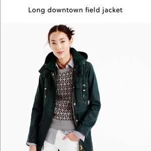 J. Crew Jackets & Blazers - J.crew Navy long downtown field jacket