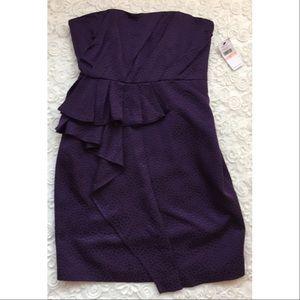Cynthia Steffe Dresses & Skirts - Cynthia Steffe Purple Strapless Ruffle Dress Sz 10
