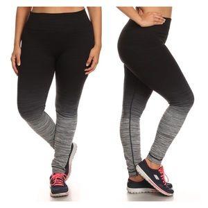 efda73b1aa5fe Pants - Plus Size Ombre Workout Leggings