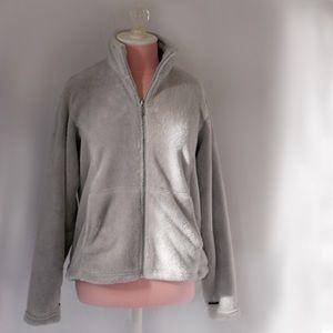 White Sierra Jackets & Blazers - White Sierra Light Grey Fleece