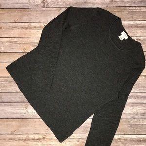 Brooks Brothers Sweaters - Dark Grey Rib Light Wt Work/Casual Sweater EUC