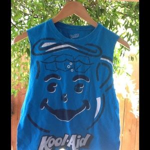 Tops - Altered cut tank top Kool-Aid gym pajama top