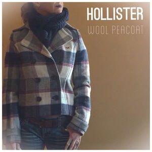 HOLLISTER Wool Peacoat