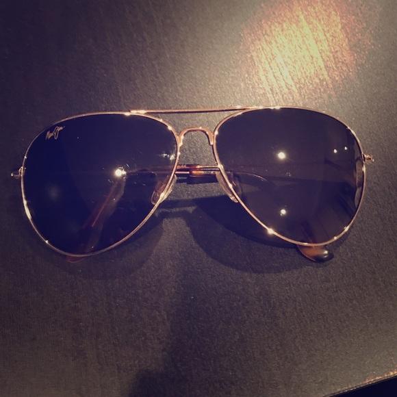 cd4e92732642c Maui Jim Accessories - Maui Jim Mavericks -gold with bronze lenses