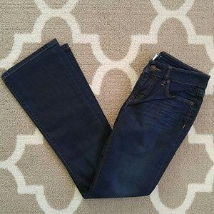 LOFT Denim - LOFT Modern Boot cut jeans in dark wash