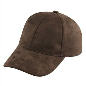 undefined Accessories - N•E•W Faux Suede Baseball Cap