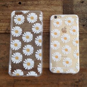Accessories - 🌼 iPhone Clear Soft Daisy Floral Cell Phone Cases