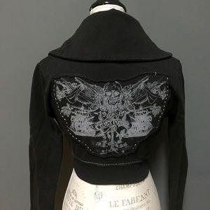 Obey Jackets & Blazers - Womens Obey Cropped Skull Bone Jacket