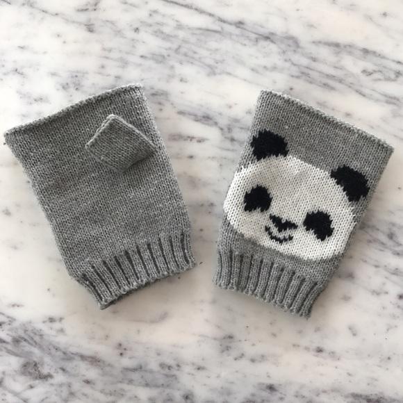1991b286499 Panda Knit Fingerless Gloves. M 5876bc32f09282df3e03554b