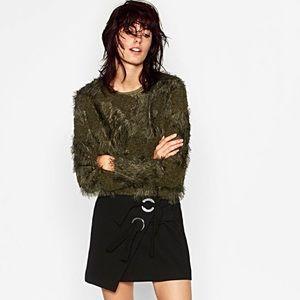 Zara faux fur sweater, NWT