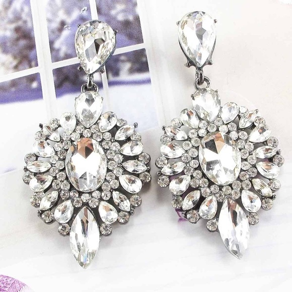 "Bedecked & Bedazzled Jewelry - ""Amelia"" Crystal Statement Earrings LAST ONE!"