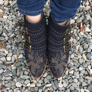 Chloe Shoes - JUST SHARING (for now)Navy Blue suede Chloe Susana