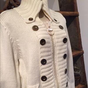 PattyBoutik Sweaters - Knit  Zip Sweater