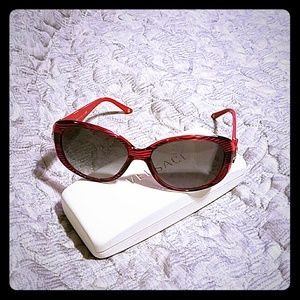 Red and black Versace sunglasses