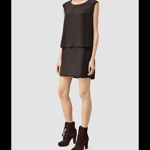 All Saints Anya dress merlot red US 4