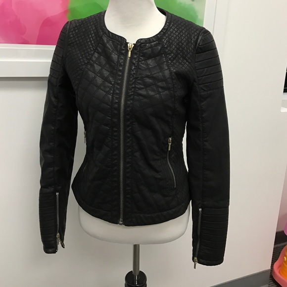 Zara - Zara Trafaluc Large Quilted Faux Leather Jacket from My ... : zara leather quilted jacket - Adamdwight.com