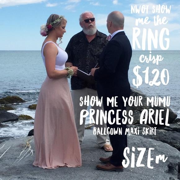 Show Me Your MuMu Skirts | Princess Ariel Ballgown Maxi | Poshmark