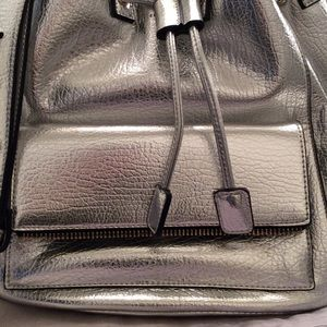 POVERTY FLATS Bags - SILVER BUCKET BAG