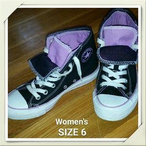 Converse Shoes - EUC Converse Double Tongue High Tops