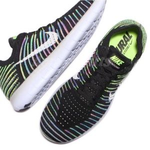 Nike Other - Nike Free RN Flyknit Rainbow Multicolor Size 10