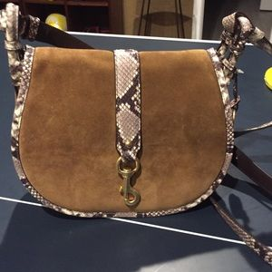 54a5f352d3c KORS Michael Kors Bags - Large MK saddle bag. Dk caramel NWT
