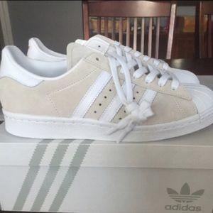 Adidas Shoes - Brand New Tan & White Adidas Superstars