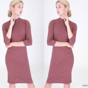 April Spirit Dresses & Skirts - Marsala Mock Neck Dress