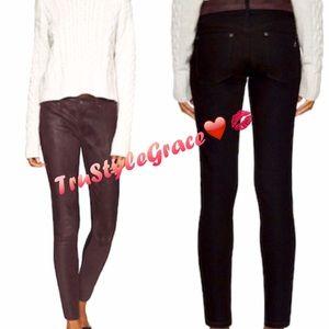 DL1961 Denim - NWT-DL1961 Emma Leather Front Skinny Jean-Size 25