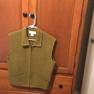 Army Green 100%wool vest