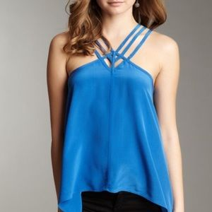 SUMMER $17 SALEBCBG Strappy Silk Blue Tank