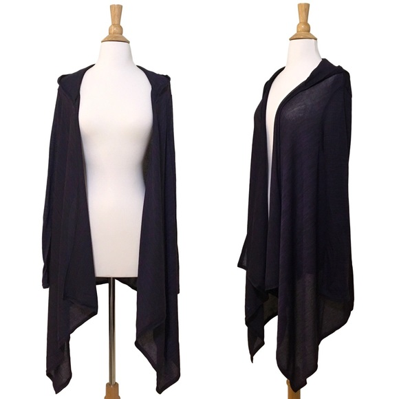 fairlygirly - ✨ Long Drape Front Lightweight Hooded Cardigan from ...
