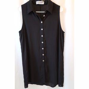 Black sheer shift dress