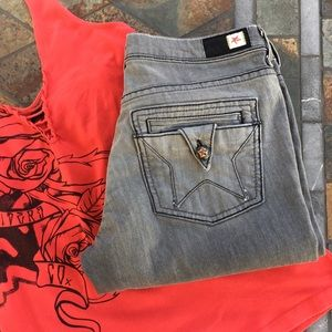 People's Liberation Denim - People's Liberation Gray Denim Star Pocket Jeans