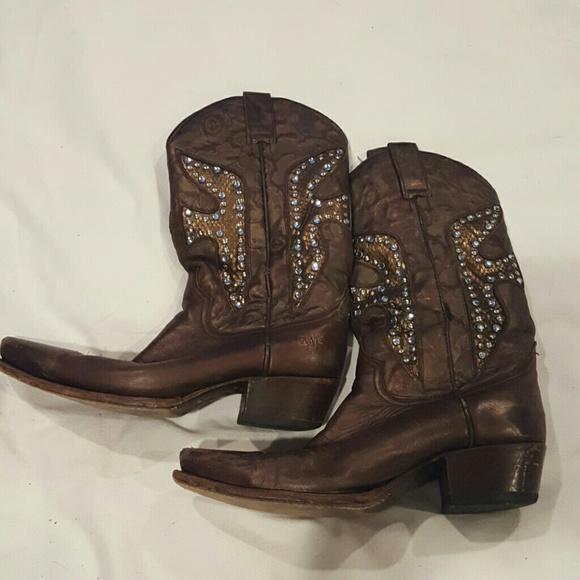 403a71e2b65 Frye bedazzled cowboy boots