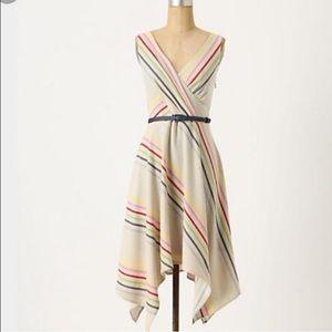 Eva Franco crossing stripes dress