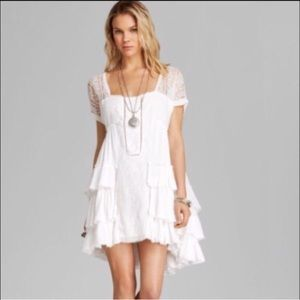 Free people sunbeams mini dress in ivory