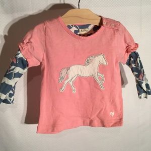 Hatley Other - Baby girl hoarse Shirt in pale pink