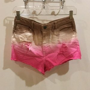 NWOT Distressed Ombré Denim Cutoff Shorts