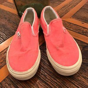 Vans coral slip on sneakers ✌️