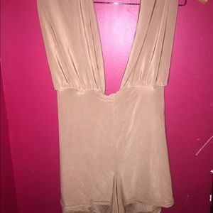 Boohoo cut out bodysuit with shorts