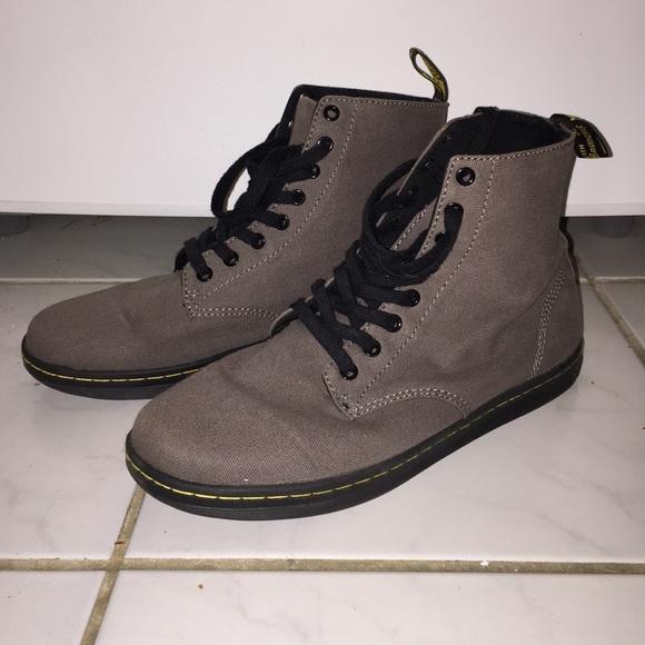 Dr Martens Grey Canvas Alfie Boot 8eye