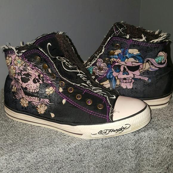 Ed Hardy Shoes | Ed Hardy Hitops Chuck