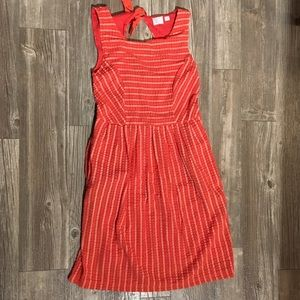 Coral Anthropologie Postmark Dress - Small