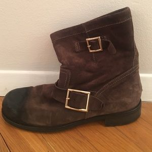 Jimmy Choo Shoes - Jimmy choo suede biker boots
