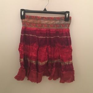 Free People Dresses & Skirts - Silky colorful mini skirt from free people