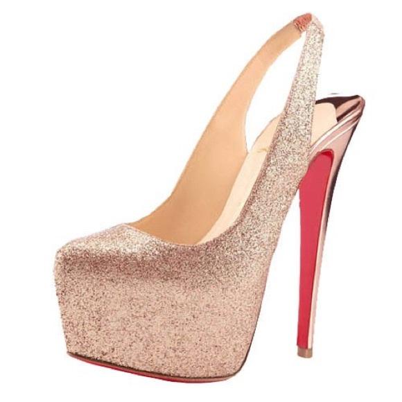 6c3a1d6f510d Christian Louboutin Shoes - Christian Louboutin Daffodile glitter pump 35