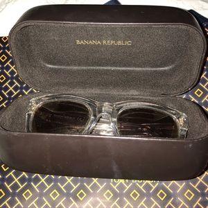 Beautiful clear Banana Republic sunglasses