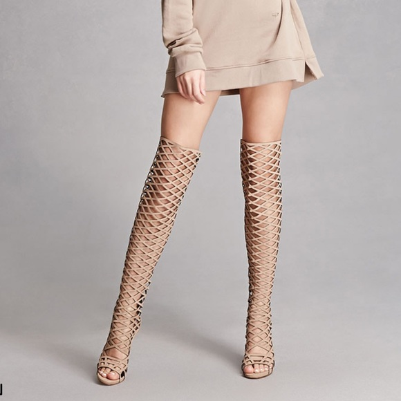 Nasty Gal Shoes   Thigh High Caged