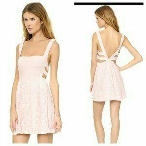 NWT Free People Blush Pink Turnback Ballet Dress